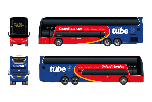 Plaxton Panorama coaches for Oxford Tube (CNW Group/Alexander Dennis Limited)