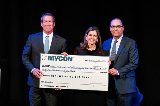 Pictured: Charles R. Myers, Mary Pat Higgins, and Mark Zoradi