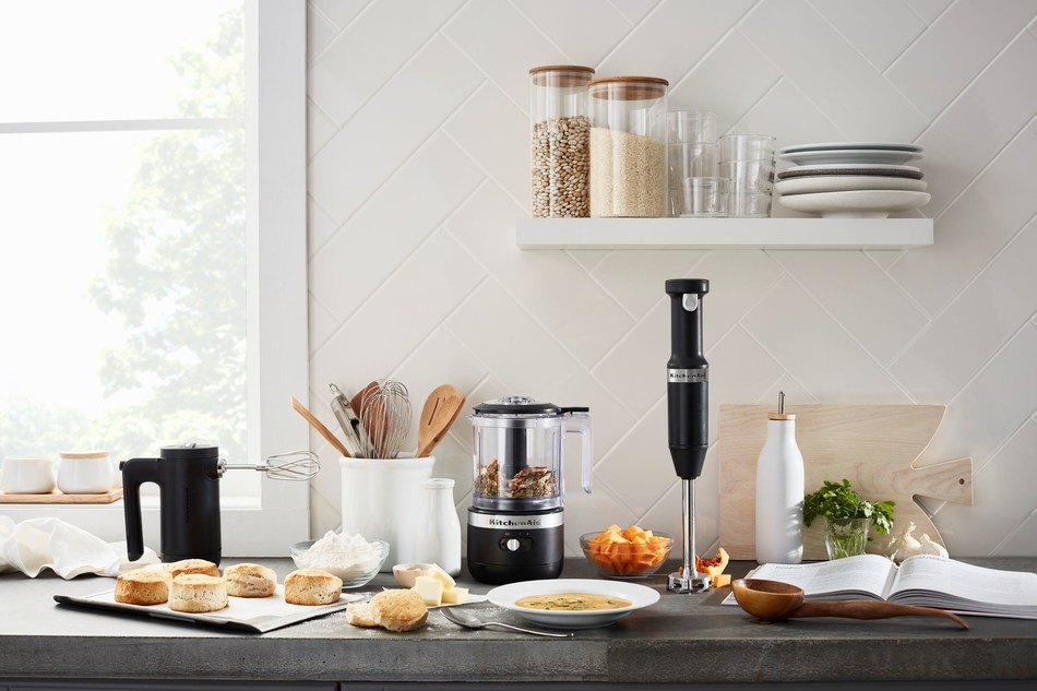 Cordless Collection by KitchenAid includes: Cordless Hand Blender, 5-Cup Chopper and 7-Speed Hand Mixer