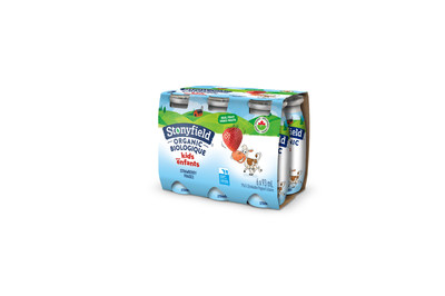 Stonyfield Organic Kids Drinkable Yogourt 6-pack Strawberry (CNW Group/Lactalis Canada)