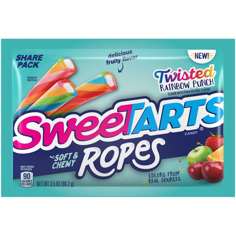 SweeTARTS® Adds to Its Most Popular Product Line with the Launch of SweeTARTS Twisted Rainbow Punch Soft & Chewy Ropes and SweeTARTS Twisted Mixed Berry Ropes Bites