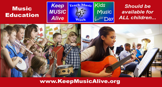 Music Education should be available for ALL children!