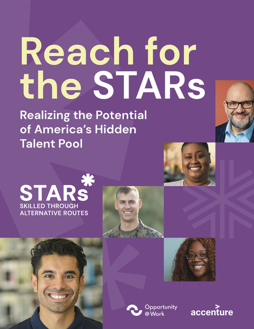 """""""Reach for the STARs: Realizing the Potential of America's Hidden Talent Pool,"""" reveals there are currently more than 71 million U.S. active workers who do not have college degrees, but are Skilled Through Alternative Routes – or STARs – and have the skills to succeed in higher-wage jobs."""