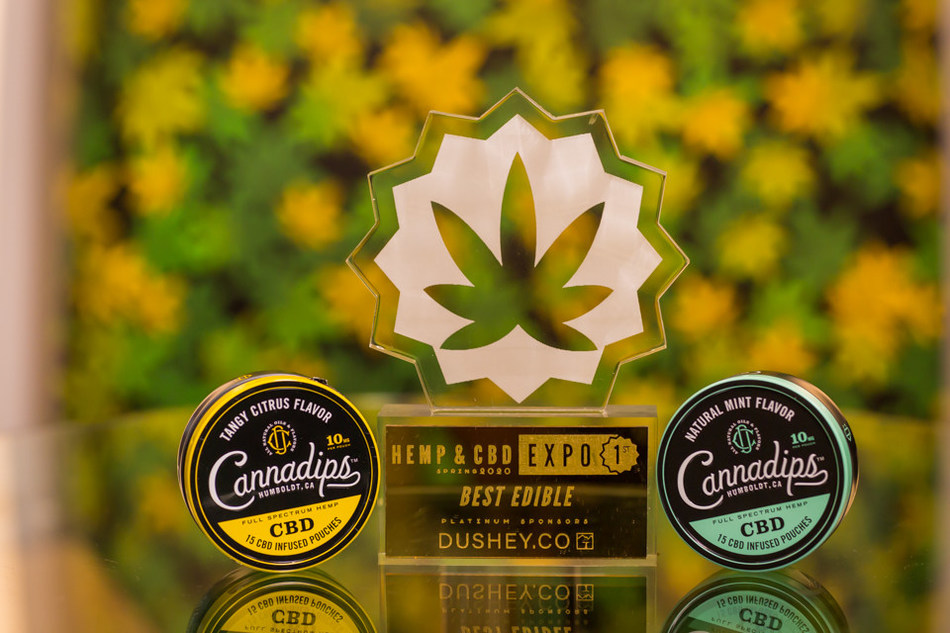 Cannadips wins First Place for Best Edible and Second Place for Best Innovation at the recent Hemp & CBD Expo. (PRNewsfoto/SpectrumLeaf Limited)