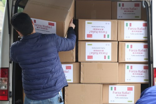 ZOOMLION Donates Masks to Italy in Response to COVID-19 in Italy