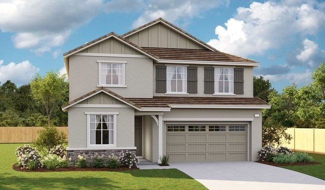 Exterior of the Pearl floor plan at Olivine at Terramor