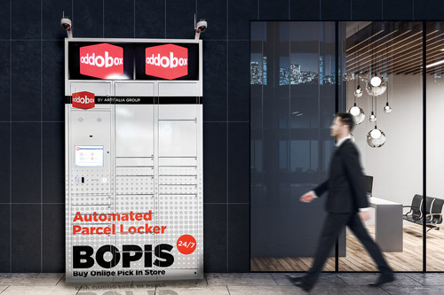 Addobox is a multi-purpose smart locker looking to radically transform the parcel delivery industry, one package at a time. (CNW Group/Artitalia Group inc.)
