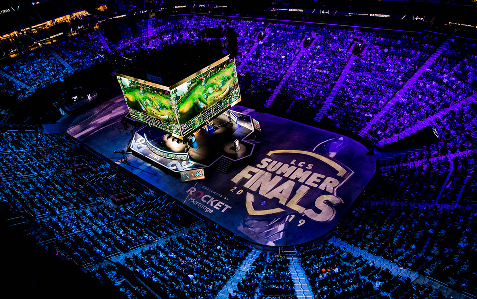 DETROIT, MI - AUGUST 25: Final match Cloud9 vs Team Liquid onstage at League of Legends Championship Series (LCS) Summer Finals presented by Rocket Mortgage at Little Caesars Arena on August 25, 2019 in Detroit, Michigan. (Photo by Kyle Miller/ESPAT Media)