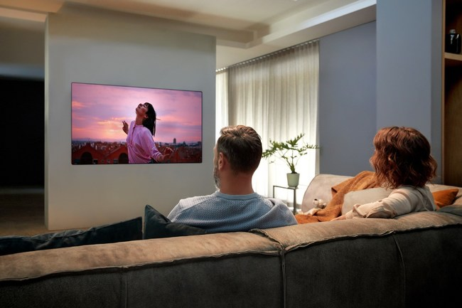 Building on LG's commitment to outstanding design, the GX Gallery series (55-, 65- and 77-inch models) offers a uniquely minimalist aesthetic made possible by OLED's revolutionary panel technology.