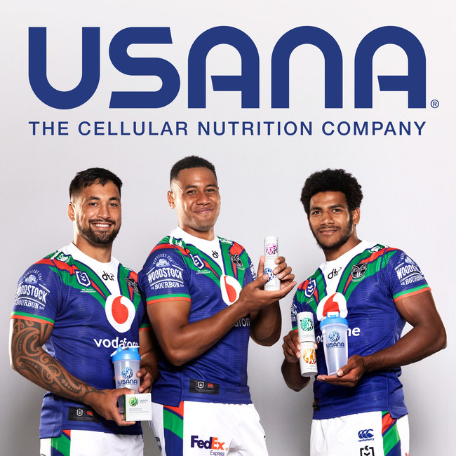 USANA SIGNS DEAL WITH PROFESSIONAL NEW ZEALAND RUGBY LEAGUE TEAM, VODAFONE WARRIORS