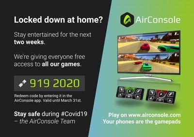 AirConsole Covid Code
