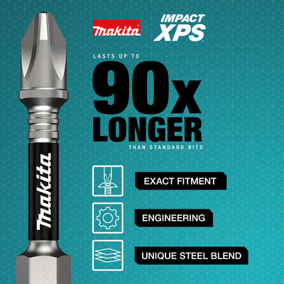 Makita Impact XPS™ is a premier line of insert bits, insert bit holders, power bits, magnetic nutsetters, sockets, and socket adapters.