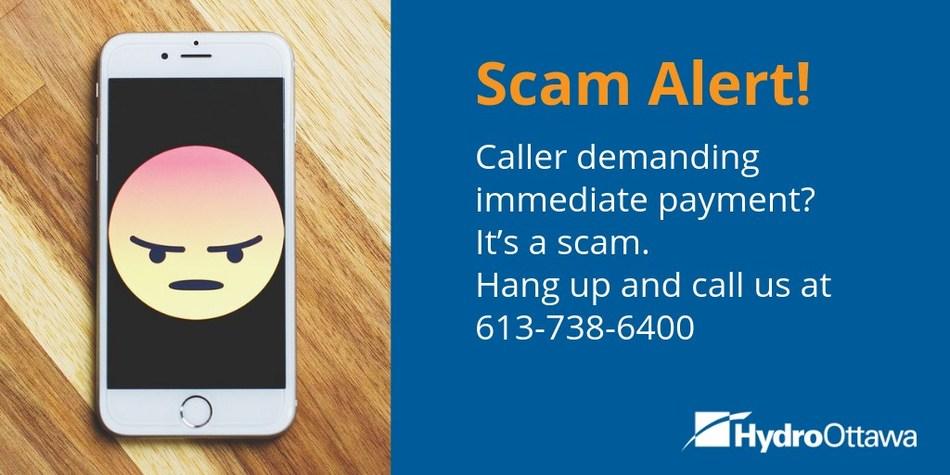 Scam Alert! (CNW Group/Hydro Ottawa Holding Inc.)