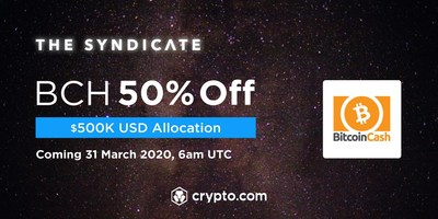 Crypto.com Exchange to list BCH with a $500,000 USD allocation at 50% OFF for CRO stakers