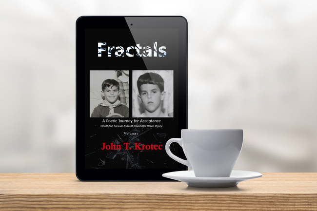 Fractals: New release for World Poetry Day. The author hit rock bottom and survived a traumatic brain energy caused by an alcohol-fueled traffic accident. This unleashed his demons and forced him to finally cope with the trauma he experienced at a young age. A message of healing and hope.