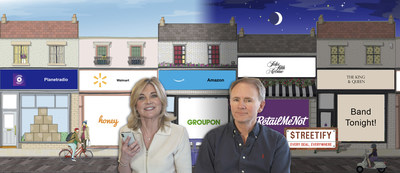 Founder Martin Banbury with Co-Director and UK TV Star Anthea Turner. A serial entrepreneur and serial shopper dream team.