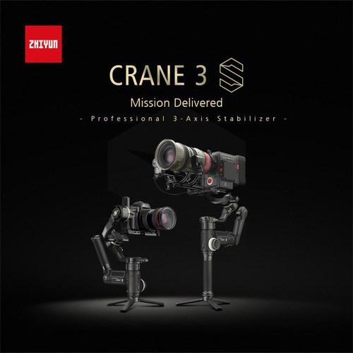 ZHIYUN Announces CRANE 3S, a gimbal with unprecedented power and modular design