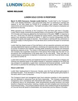 Lundin Gold COVID-19 Response (CNW Group/Lundin Gold Inc.)