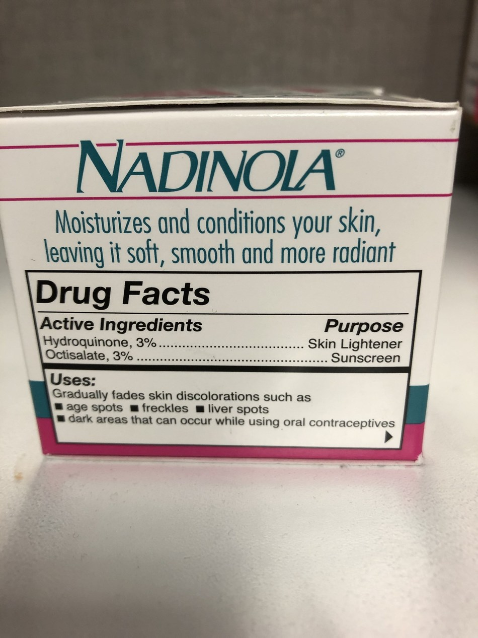 Nadinola Side (CNW Group/Health Canada)