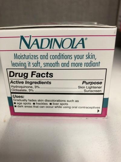 Nadinola Side (CNW Group/Health Canada)