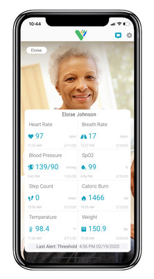Screenshot of VitalCare Family app.