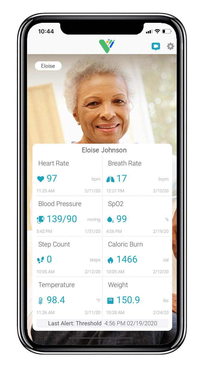 Screenshot of VitalCare Family app.