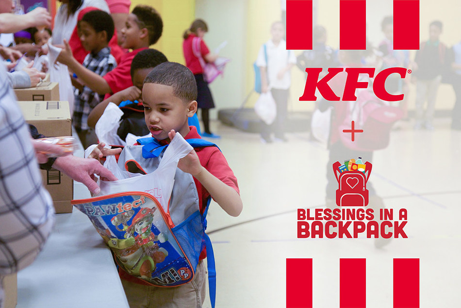 """KFC is donating $400,000 to Blessings in a Backpack to provide children access to meals during the novel coronavirus pandemic. KFC employees in Louisville have packed more than 30,000 """"Blessings bags"""" since 2017 through a partnership with the nonprofit, which provides food on the weekends for elementary school children across America who might otherwise go hungry."""