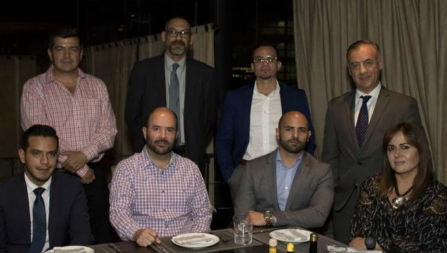 CEO Omar Caraballo, COO Kim Fernandez, VP of international investments Gerardo Quintero and the new team for the Mexico division of Arch Real Estate Holdings.