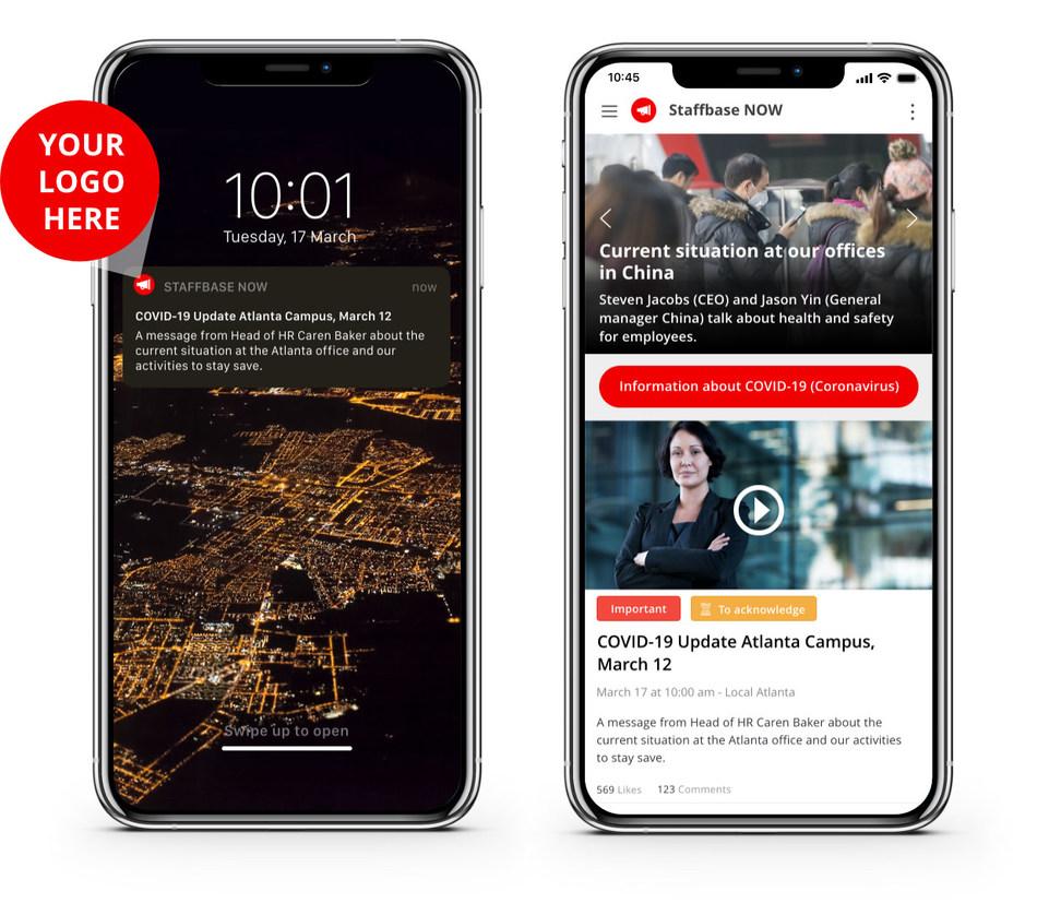 Staffbase NOW App - Example Design