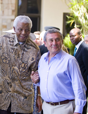Nelson Mandela and Sol-Kerzner at One & Only Cape Town launch