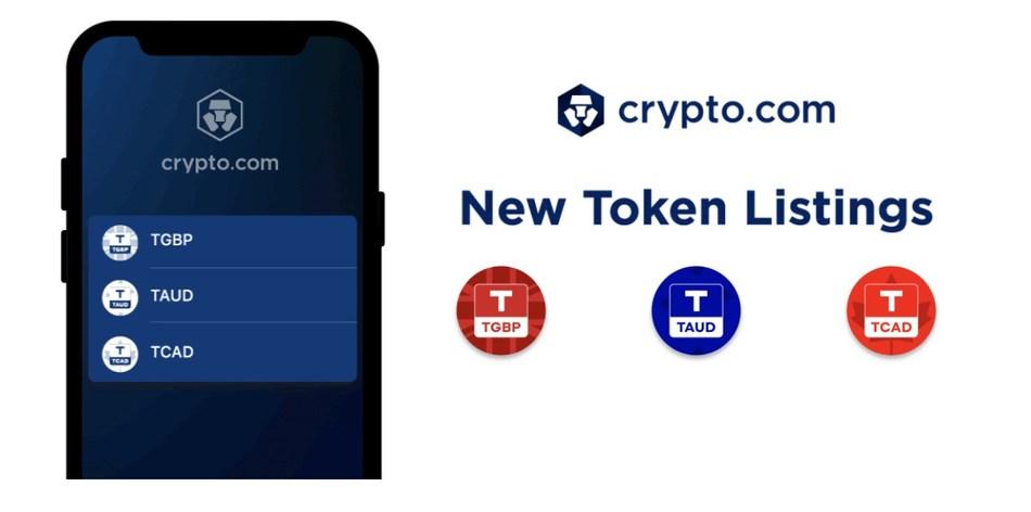 TrustToken's TrueGBP (TGBP), TrueAUD (TAUD),  and TrueCAD (TCAD) are listed on the Crypto.com App (PRNewsfoto/Crypto.com)