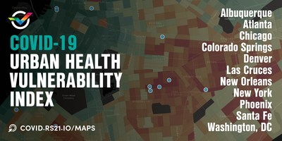 The Urban Health Vulnerability Index supports city resource planning and deployment. © RS21