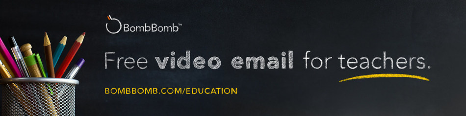 In response to COVID-19, BombBomb is offering video email for every teacher, administrator, professor, counselor, or educator for no cost.
