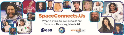 #SPACECONNECTSUS - LIVING IN ISOLATION HERE ON EARTH AND AMONG THE STARS