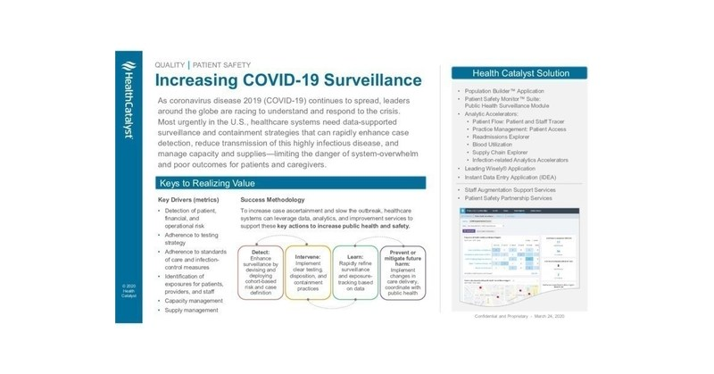Health Catalyst Expands Covid 19 Response Support And Provides Infrastructure To Enable Readiness For Future Demands