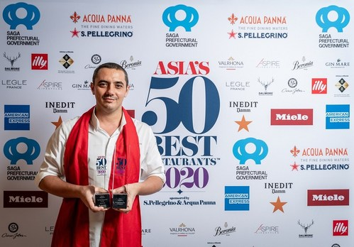 Odette in Singapore secures No.1 Spot in Asia's 50 Best Restaurants for second consecutive year. (PRNewsfoto/Asia's 50 Best Restaurants 2020)