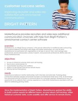 Bright Pattern Contact Center Chosen by MarketSource, Inc. To Support Call Center Operations
