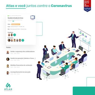 Contra a crise do coronavírus, startup Atlas Governance fornecerá gratuitamente software e orientação para comitês de gestão de crises