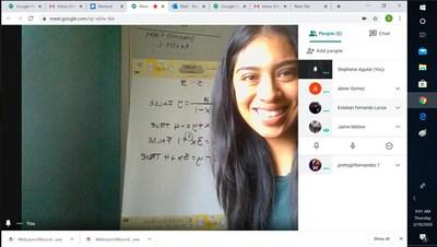 Learn4Life Math Teacher Stephanie Aguilar leads small group instruction remotely