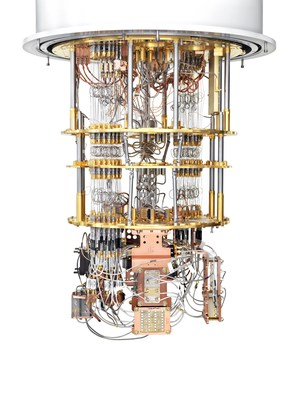 A Rigetti quantum computer based on superconducting qubits.