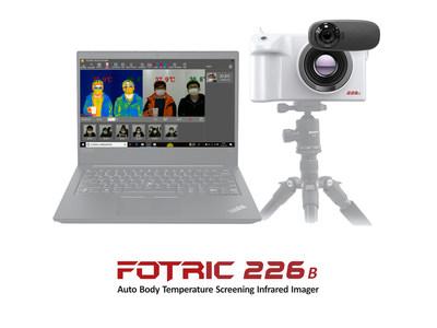 Dispositivo de detección de temperatura infrarrojo automático FOTRIC 226B (PRNewsfoto/FOTRIC INC.)