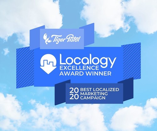 """Tiger Pistol wins the prestigious Localogy Excellence Award for """"Best Localized Marketing Campaign"""" for its technology that creates critical connections between Realogy real estate agents and homebuyers."""