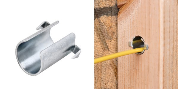 Madison Electric Products' Sparks Innovation Center has released the new Smart Shield™ Nail Guard. This innovative steel nail guard has a unique cylindrical shape that better protects wires and cable in wood framing from stray nails or screws.