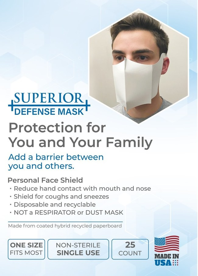 Non-medical Mask to create a face shield and protect from COVID-19.
