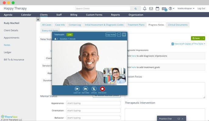 Therapy Brands telehealth solutions allows therapists to connect with patients virtually.