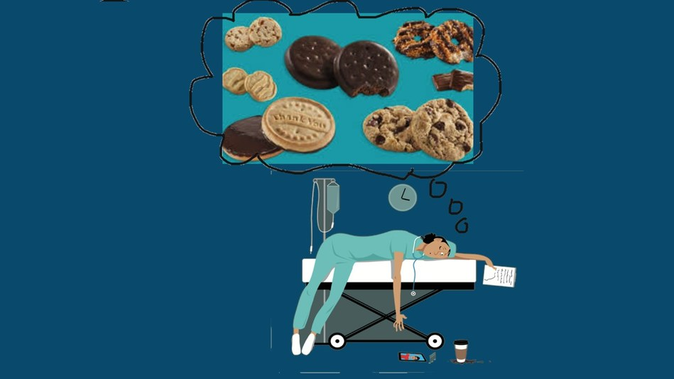 exhausted healthcare workers could use some cookies