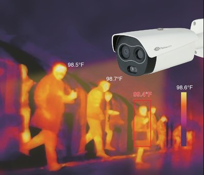 Body Temperature Sensing Hybrid Thermal Camera with AI can sense people with a fever from up to 3m away without direct contact