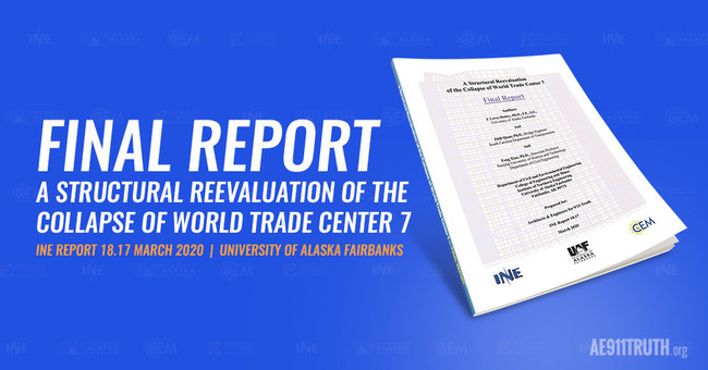 The final report of the University of Alaska Fairbanks study on World Trade Center Building 7