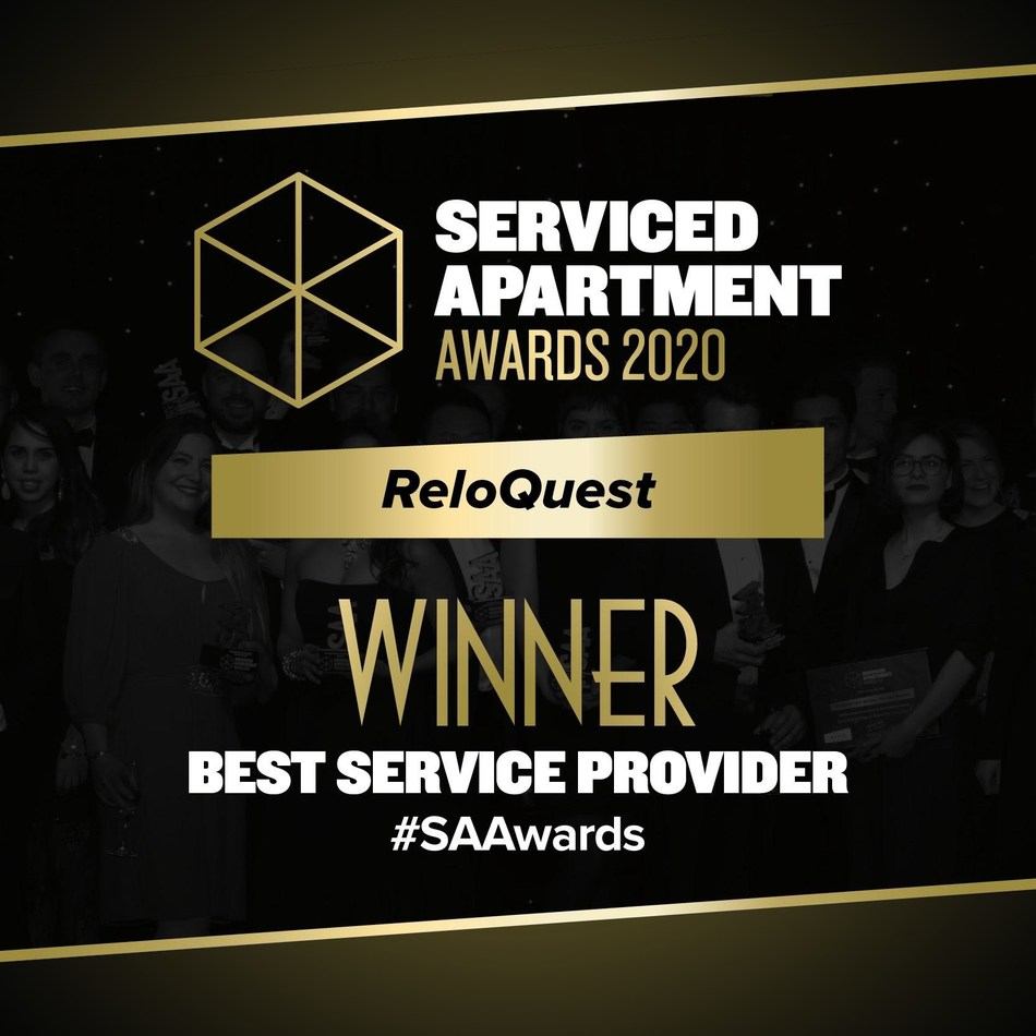 ReloQuest Wins Global Award for Best Service Provider, from Serviced Apartment's