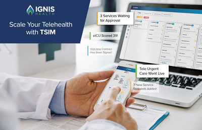 TSIM's intuitive interface enables logging, prioritizing and scaling telehealth service implementation.
